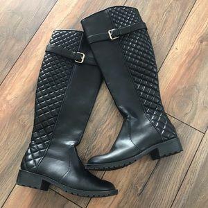 Zara Traflauc black riding boots